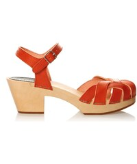 Swedish Hasbeens Pearl High - Sandalen - orange