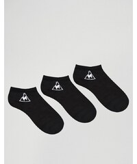 Le Coq Sportif - Lot de 3 paires de socquettes avec logo - Noir
