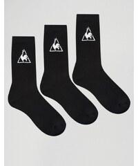 Le Coq Sportif - Lot de 3 paires de chaussettes avec logo - Noir
