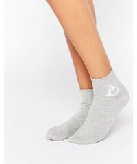 Le Coq Sportif - Socquettes pailletées avec logo - Argenté