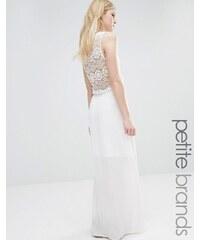 Vero Moda Petite - Robe longue avec détails au crochet - Blanc