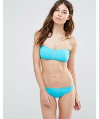 Goddiva - Bikiniset ohne Träger mit Reißverschlussdetail - Blau