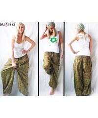 Kalhoty Moshiki Sarita, zelená