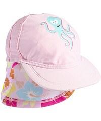 Aquatinto Baby - Mädchen Kappe mit kleinem Kraken- & Blumen-Print, UV +50