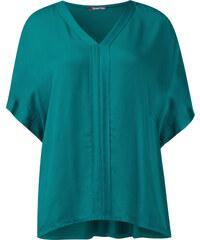 Street One - T-shirt poncho texturé Ela - paradise green