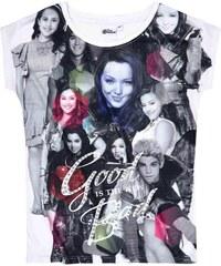 Disney Descendants T-Shirt weiß in Größe 140 für Mädchen aus Vorderseite: 100% Polyester Rückseite: 100% Baumwolle