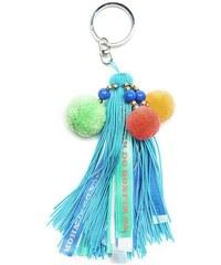 Hipanema Porte clé Porte-clés pompon bleu Keysblue