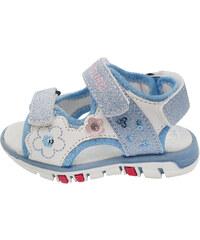 Canguro Dívčí sandály s flitry - světle modré