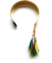 Laure Mory Bijoux Bracelet Manchette à Plumes Vertige