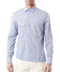 I'M Your Shirt Chemise en Coton Asymétrique Bleu clair I'M Squeezed