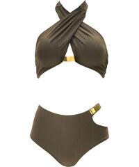 Norma Swimwear Maillot Deux-Pièces Haut Croisé Bas Taille Haute Découpé Isabel