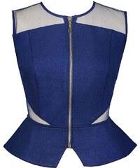 Kris Jane Haut Bleu Zippé à Basques - Blue Jasmine