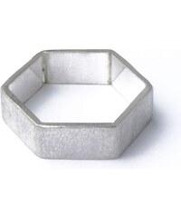 DV Jewellery Bague Hexagonale en Argent