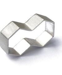 DV Jewellery Bague Deux Doigts Hexagonale en Argent