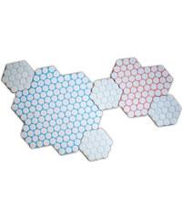 ?Love, Ana. Set de 6 Dessous de Plats en Céramique - Honeycomb