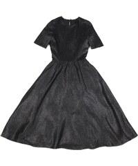 ValeriAura Robe Noire Coupe Vintage en Lurex