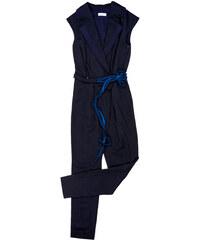 Celeni Combinaison Pantalon Ceinturée Marine - Stictonetta