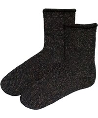 Pas Chassé Chaussettes Noires à Paillettes Cuivre - Cléo