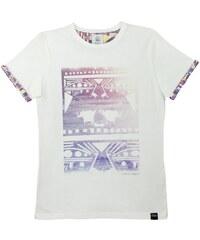 Blue Telegram T-Shirt Blanc Imprimé - California Dreaming