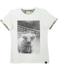 Blue Telegram T-Shirt Imprimé Blanc - Jordans Beast