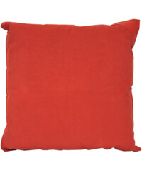 BSL Maroquinerie Coussin Rouge Bicolore avec Empiècement Cuir