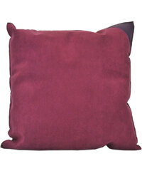 BSL Maroquinerie Coussin Violet Bicolore avec Empiècement Cuir