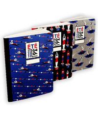 Eté 36 Set de 3 Carnets - Bleu, Noir & Gris
