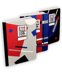 Eté 36 Set de 3 Carnets - Noir, Bleu & Gris