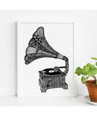 Tovelisa Affiche Imprimée - Gramophone