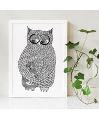 Tovelisa Affiche - Owl Hug