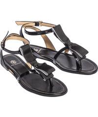De Siena Sandales Noires avec Noeud - Cecile