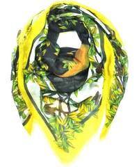 Kris Jane Foulard Imprimé Jaune Mythical Forrest