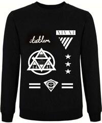 Tatl?m Official Sweatshirt Noir Imprimé - 3 Star General