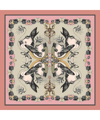 Emily Carter Foulard Imprimé Colibri - The Hummingbird & Honeysuckle Scarf