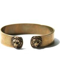 Mamishka Paris Bracelet Torque à Têtes de Lions