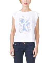EON Paris Tshirt en Coton Bio Imprimé Gros Chat