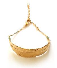 Laure Mory Bijoux Bracelet Doré à Perles Semi Précieuses Vertige Plume