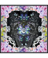 SEFHYIR Foulard en Chiffon de Soie Imprimé Oversize - Mercury Rising
