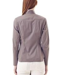 I'M Your Shirt Chemise Grise Asymétrique à Bouton Contrastant I'M Confused