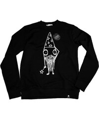 Sweat-shirt Noir Imprimé - Quipster Wizard