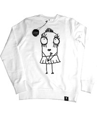 Sweat-shirt Imprimé Blanc - Quipster Princess