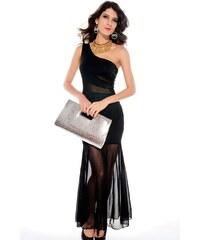 767c7f5a8f0 LM moda A Dlouhé elegantní šaty černé 2006