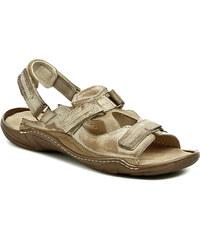 Koma 71 béžové pánské nadměrné sandály