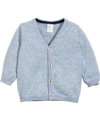 H&M Bavlněný propínací svetr