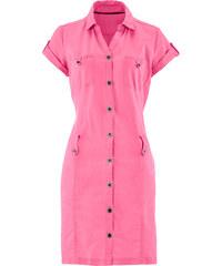 bpc bonprix collection Leinen-Kleid/Sommerkleid kurzer Arm in pink von bonprix