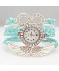 Lesara Viergliedrige Armbanduhr mit Schmuckelementen - Blau