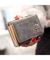 Lesara Geldbörse mit Regenschirm-Applikation - Grau