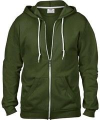 Pánská mikina Fashion s kapucí - Vojenská zelená S