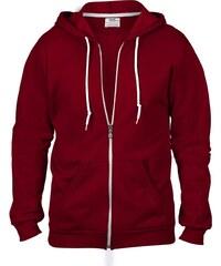 Pánská mikina Fashion s kapucí - Vínově červená S