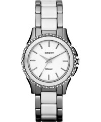 Dkny Montres, Westside Chrono Bracelet Silver White en blanc